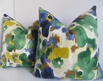 Pillow Covers, Green Yellow Pillow Covers,Dwell Studio Pillow Covers,Decorative Pillow Covers,Green Pillows,Yellow Pillows