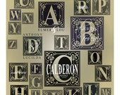 Letter monogram with names vinyl decal