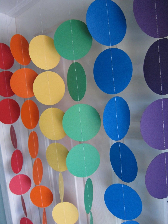 Rainbow Party Paper Garland Yo Gabba Theme Birthday