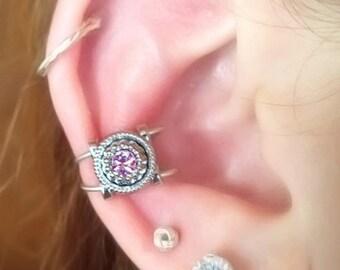 Small Rose Ear Cuff