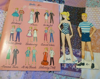 Barbie and Ken Cut Outs Vintage Paper Dolls 1962 Whitman Publishing Company