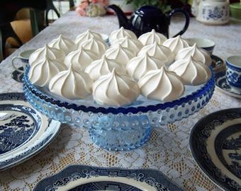 L. E. Smith Blue Hobnail Cake Stand - Smith Blue Hobnail Cake Stand - Wedding Cake Stand - Something Blue - Hobnail Cake Stand - Cake Stand