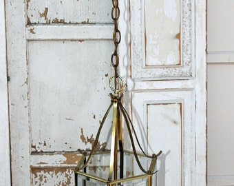 Vintage hanging Lantern Chandelier Fixture Ready To Paint By Foo Foo La La
