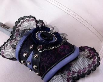 Lavender & Lace Leather Cuff