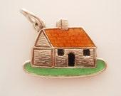 Sterling Silver House Enamel Charm