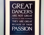 Great Dancers Quote