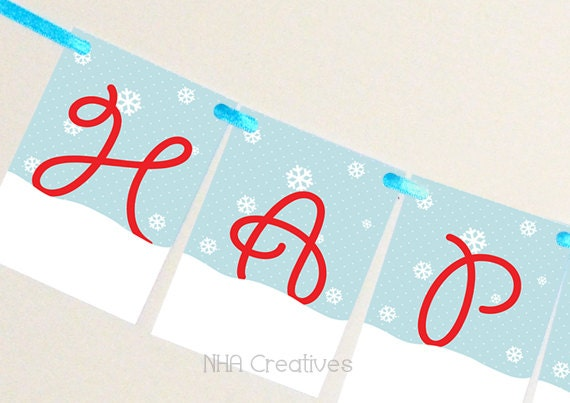 Items similar to Christmas Banner - Happy Holidays with ...