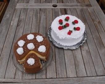 Aardbei of chocolade decoratie taart