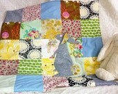 Cusom order for Michele Prance. Stroller quilt/ baby playmat in Blues
