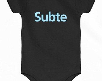 Baby Subte Buenos Aires One Piece - Argentina Subway Infant Romper - NB 6m 12m 18m 24m - Argentina Baby - 2 Colors