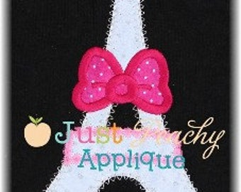 Paris Tower Machine Embroidery Applique Design Buy 2 for 4! Use Coupon Code 50OFF