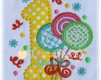 Lollipop Trio Number 1 Machine Embroidery Applique Design