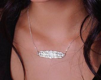 Sterling Silver Celtic Bar Necklace, Celtic jewelry, Sterling Silver Necklace, Unique Celtic Jewelry, Irish Jewelry, Sterling Silver
