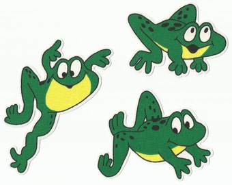Cartoon Frog Fabric Iron on Appliques