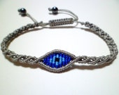Evil Eye Macrame Knot Friendship Cord Bracelet