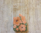 Floral Coral iPhone 4 or 4s case