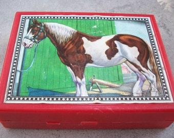 Hermann Eichhorn Wooden Block Farm Animal Puzzle West Germany