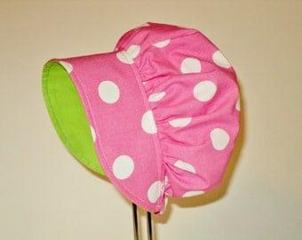 Baby Bonnet - Baby Sun Hat - Easter Bonnet - Sun Bonnet - Sunhat -  Cotton Bonnet - Toddler Bonnet - Made To Order Size Newborn To 2Yrs