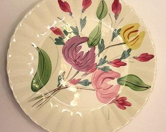 Blue Ridge Southern Potteries Inc. Floral Plate Vintage