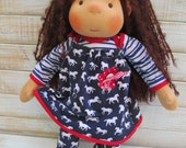 """Overall set for 16-18 """" dolls"""