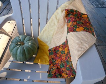 Autumn Table Runner, Quilted Table Runner, Fall Leaves Table Runner, Orange Table Runner, Yellow Table Runner