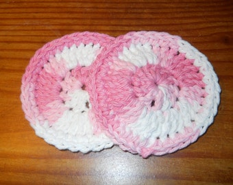 100% Cotton Crocheted Facial Scrubbies, facial scrubbies, crocheted scrubbies, crocheted facial cleansers, facial cleansers, cotton scrubby