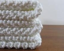 Cotton Crochet Wash Cloth, Dish Cloth - set of three