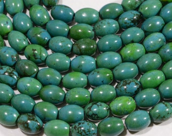 "Turquoise 10 x7.8mm 7 3/4"" Strand Natural Gemstone Beads Jewelry Making Supplies Turquoise Beads"