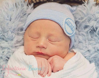 LITTLE BROTHER NEWBORN  hospital hat, little brother, newborn boy coming home outfit, newborn boy hat, baby boy nursery, baby boy hat