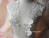 Ivory lace applique, venice lace applique, costume design ,Jewelry design, rose lace applique