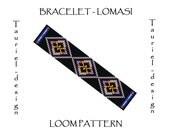 Loom pattern - native american inspired bracelet pattern - Lomasi
