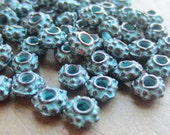 Mykonos Bali Style Spacer Bead 6mm Green Patina QTY 10