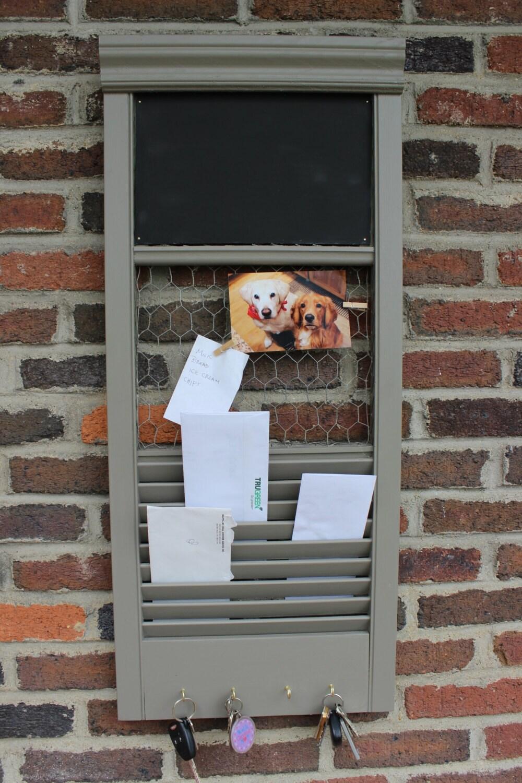 Custom Made Repurposed Shutter Into Key Mail Holder Chicken