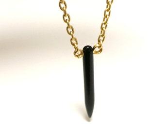Black Spike Gold Necklace