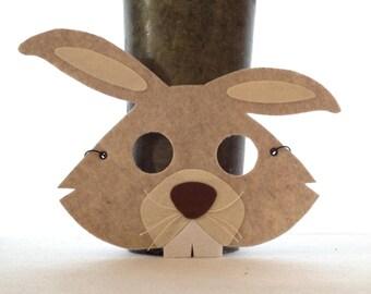 Felt Rabbit Mask - Bunny Mask - Rabbit Costume - Halloween Costume Accessory