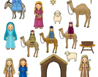 Nativity clipart – Etsy