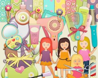 Beauty Scrapbook, Make Up scrapbook, Girls scrapbook, Girls Night scrapbook, Instant Download