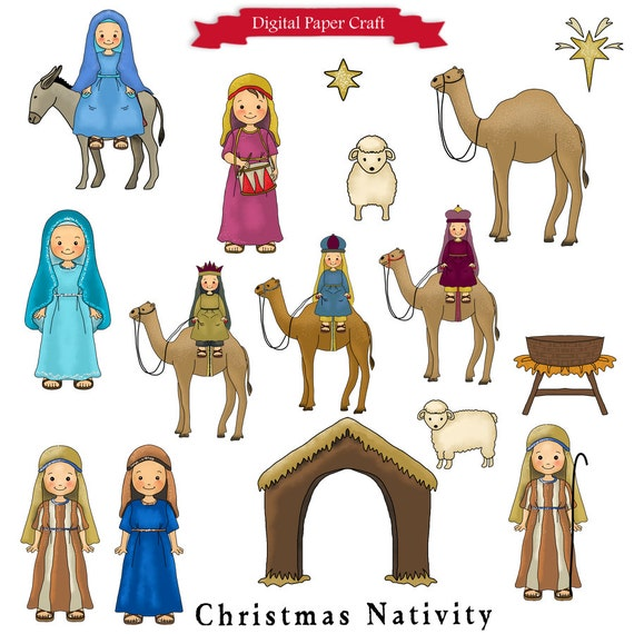 The Nativity Digital Clipart Collection by DigitalPaperCraft