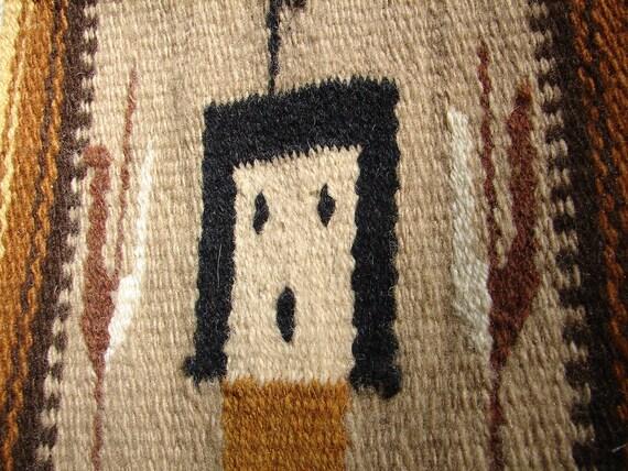 Hang Rug On Wall: Items Similar To SaLE Vintage Navajo Yei Rug Wall Hanging