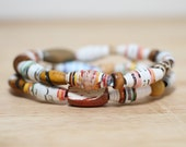 Jack and the Beanstalk, Recycled Paper Bead Bracelet Made From Book Pages, Teacher Gift Librarian Gift