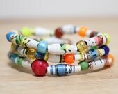 Fox in Socks Dr. Seuss Jewelry, Handmade Recycled Paper Bead Bracelet from Book Pages, Librarian Gift, Teacher Gift