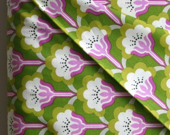 Pop Blossom in Green by Heather Bailey from the True Colors Collection - Freespirit Fabrics - ONE YARD Cut