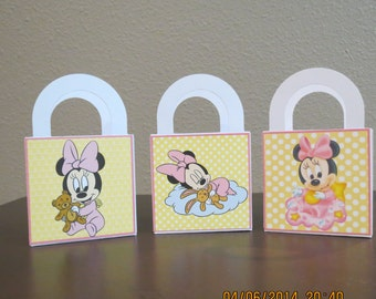 Baby Minnie Favor/Treat Bags 3 x 3 (Set of 12)