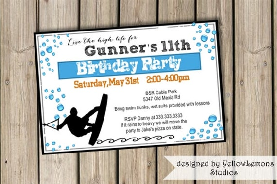 Items similar to Birthday invitation digital file only