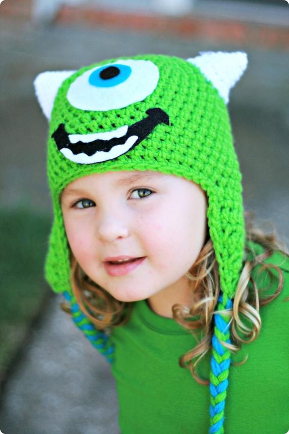 Crochet Mike Wazowski Beanie/Hat