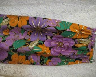 FABULOUS Vintage TROPICAL SKIRT - Bold Bright Colors - Wonderful Print - Nice Fabric - Summer Skirt