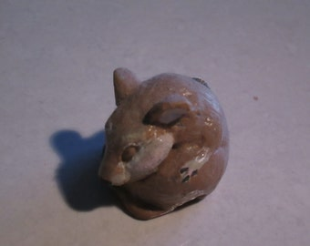 Mouse, sleeping baby...Notsuke...copy of an antique...so not-netsuke... Lindsay Graytail