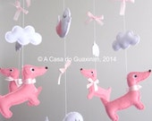 Baby Mobile - Dachshunds and Birds