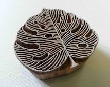 Leaf Stamp - Wooden Stamp - Hand Carved Indian Wood Block - #2