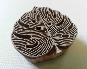 Leaf Stamp - Wooden Stamp - Hand Carved Indian Wood Block - #2
